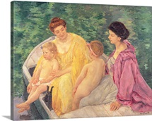 The Swim, or Two Mothers and Their Children on a Boat, 1910 (oil on canvas)