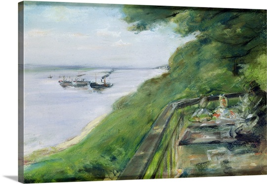 The Terrace at Jacobs Restaurant in Nienstedten an der Elbe, 1902 (pastel on paper)