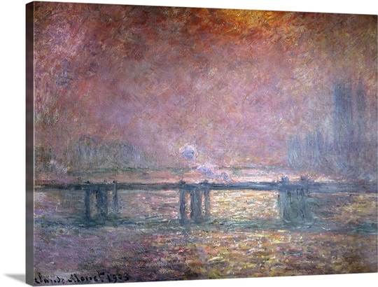The Thames at Charing Cross, 1903 (oil on canvas)