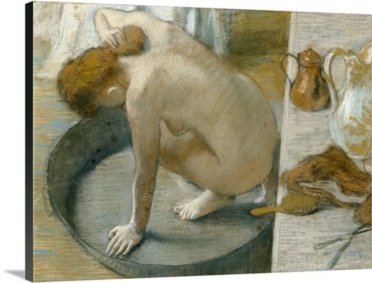The Tub, 1886 (pastel on card)