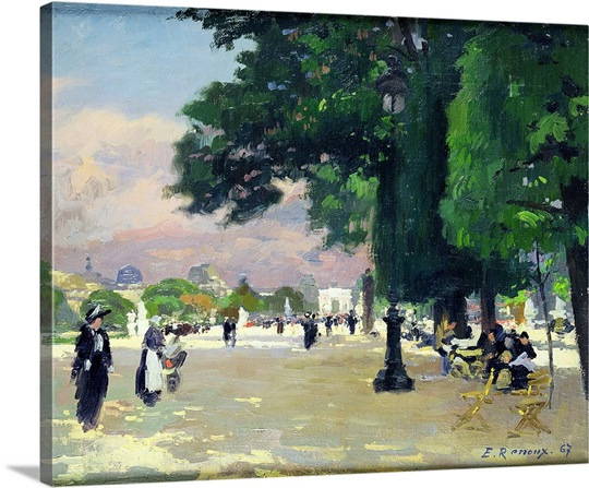 The Tuileries (oil on canvas)
