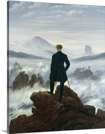 The Wanderer above the Sea of Fog, 1818 (oil on canvas)