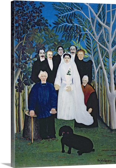The wedding party, c.1905 (oil on canvas)
