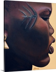 Tribal Mark, 2007 (oil and acrylic on canvas)