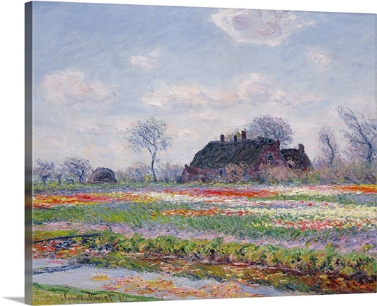 Tulip Fields at Sassenheim, near Leiden, 1886 (oil on canvas)