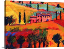 Tuscany, 2008 (acrylic on board)