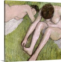 Two Bathers on the Grass, c.1886 90 (pastel on paper)