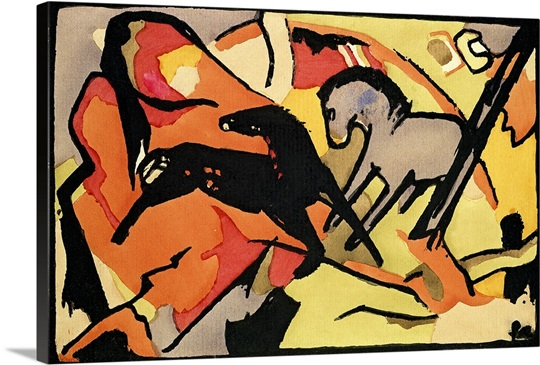 Two Horses, 1911/12 (indian ink and w/c on paper)