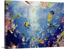 Underwater World II, 1998 (acrylic and pencil crayon on canvas)