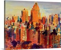 Upper Manhattan, 2000 (w/c on paper)