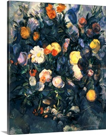 Vase of Flowers, 19th (oil on canvas)