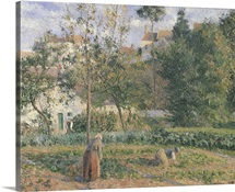 Vegetable Garden at the Hermitage, Pontoise, 1879 (oil on canvas)