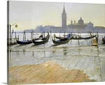 Venice at Dawn (oil on canvas)