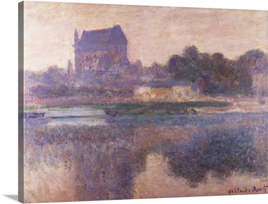 Vernon Church in Fog, 1893 (oil on canvas)