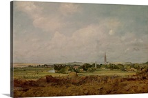 View of Salisbury (oil on canvas)