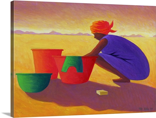 Washer Woman, 1999 (oil on canvas)
