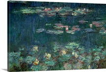 Waterlilies: Green Reflections, 1914 18 (right section)