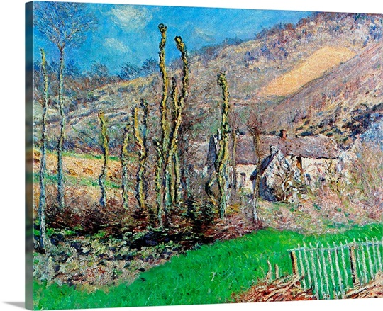 Winter at the Val de Falaise, Normandy, 1885 (oil on canvas)