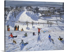 Winter Fun, Chatsworth, 2010 (oil on canvas)