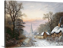 Winter landscape, 1869 (oil on panel)