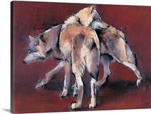 Wolf Composition, 2001 (oil on canvas)