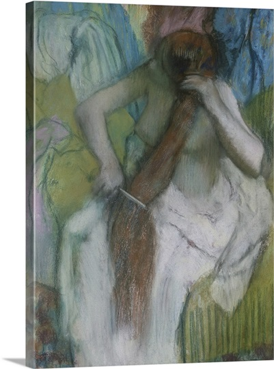 Woman Combing her Hair, 1887 90 (pastel on paper)