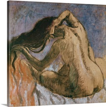 Woman Combing her Hair, 1905 10 (pastel on paper)