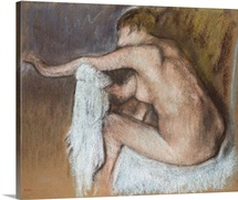 Woman Drying her Arm, c.1884 (pastel on buff paper)