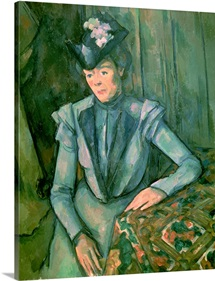 Woman in Blue (Madame Cezanne) 1900 02 (oil on canvas)