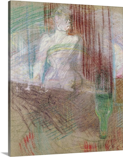 Woman standing behind a table, from Elles, 1889 (pastel on paper)