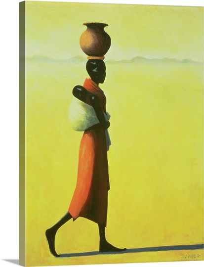 Woman Walking, 1990 (oil on canvas)