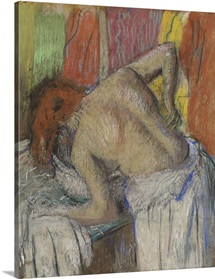 Woman washing her back, c.1895 (pastel on joined paper laid down on board)