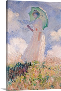 Woman with Parasol turned to the Left, 1886 (oil on canvas)