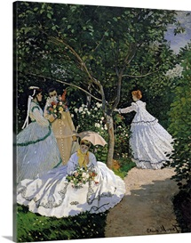 Women in the Garden, 1866 (oil on canvas)