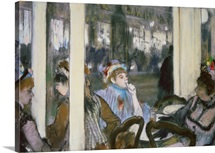 Women on a Cafe Terrace, 1877 (pastel on monotype)