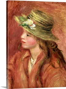 Young Girl in a Straw Hat, c.1908 (oil on canvas)