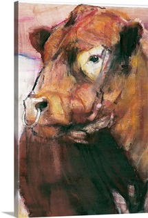 Zeus, Red Belted Galloway Bull, 2006 (mixed media on paper) (detail of 275255)