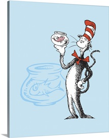 Cat in the Hat Blue Collection I: The  Cat in the Hat with Fish - Dr. Seuss Art