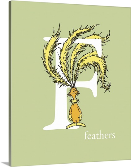 feathers green dr seuss art photo canvas print great. Black Bedroom Furniture Sets. Home Design Ideas
