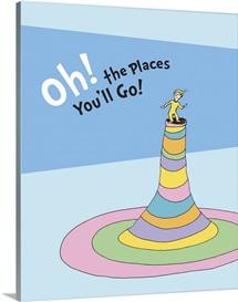 Oh, the Places You'll Go!, blue - Dr. Seuss Art