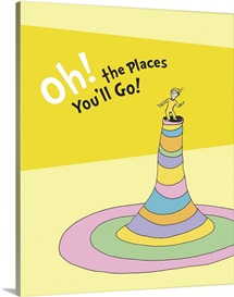 Oh, the Places You'll Go!, yellow - Dr. Seuss Art