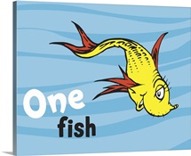 One Fish Two Fish Ocean Collection I:  One Fish, ocean - Dr. Seuss Art