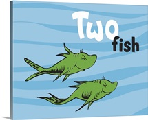 One Fish Two Fish Ocean Collection II: Two Fish, ocean - Dr. Seuss Art
