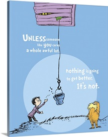 Unless Someone Cares, blue - Dr. Seuss Lorax Art