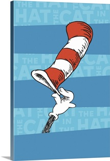 The Cat's Hat, blue stripes - Dr. Seuss Art Collection II