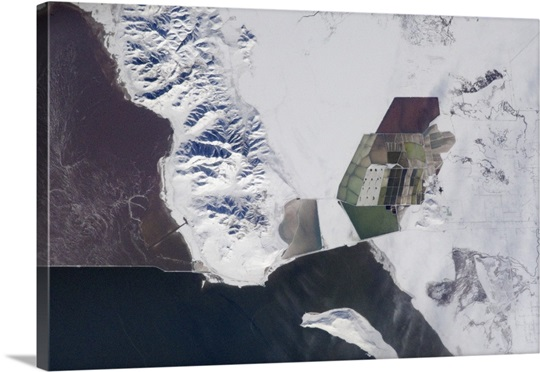 Great Salt Lake is confusing to look at from space