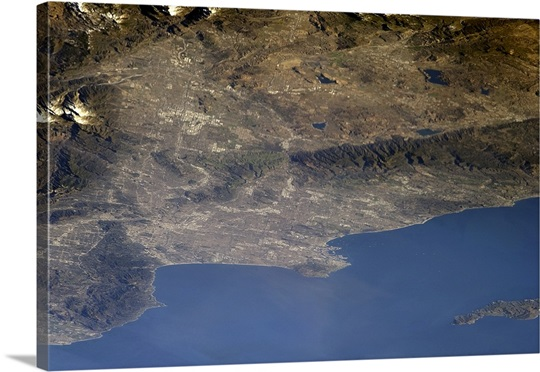 Los Angeles from Earth's orbit on New Year's Day