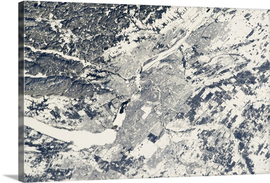 Ottawa in Snow - seen from the International Space Station