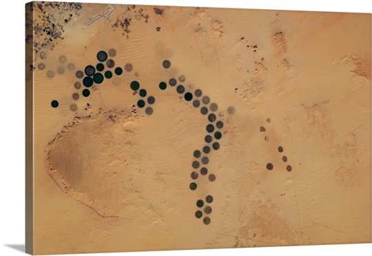 Polka-Dot Desert - centre-point irrigation farms in Egypt