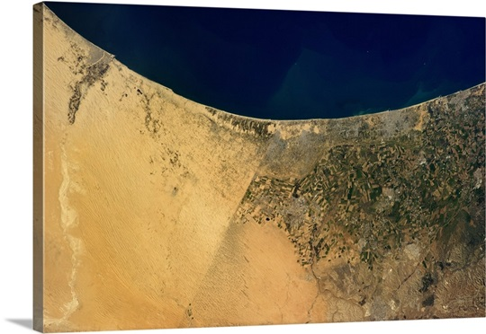 The border between Egypt and Israel